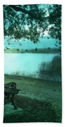 Beaufort South Carolina Surreal Ocean Inland Scene Beach Towel by Kathy Fornal
