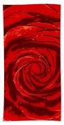 Beautiful Abstract Red Rose Illustration Beach Towel