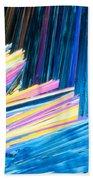 Beautiful Benzoic Acid  Microcrystals Abstract Art Beach Towel
