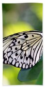 Beautiful Black N White Rice Paper Butterfly Beach Towel