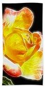 Beautiful Blooming Yellow Rose Beach Towel