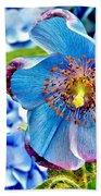 Beautiful Blue Orchid Beach Towel