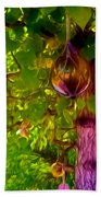 Beautiful Colored Glass Ball Hanging On Tree 2 Beach Towel