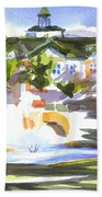 Beautiful Day At The Baptist Home Of The Ozarks In Watercolor Beach Towel by Kip DeVore