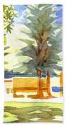 Beautiful Day On The Courthouse Square Beach Towel