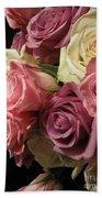 Beautiful Dramatic Roses Beach Towel