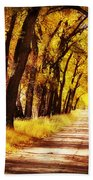 Beautiful Fall Day In Nebraska Beach Towel