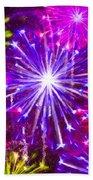 Beautiful Fireworks  6 Beach Sheet