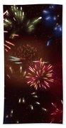 Beautiful Fireworks 9 Beach Towel