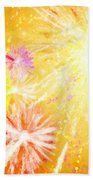 Beautiful Fireworks Beach Towel