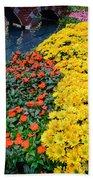 Beautiful Flower Garden Bellagio Las Vegas Beach Towel