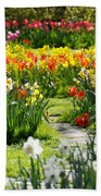 Beautiful Garden Beach Towel