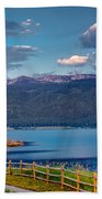 Beautiful Lake View Beach Towel