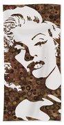 Beautiful Marilyn Monroe Digital Artwork Beach Towel