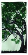 Beautiful Oak Trees Beach Towel