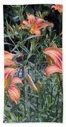 Beautiful Tiger Lilies Beach Sheet
