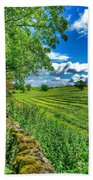 Summer View In Yorkshire Beach Towel