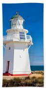 Beautiful Wairapa Point Lighthouse The Catlins Nz Beach Towel