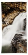Beautiful Waterfall In Western Ghats Karnataka India Beach Towel