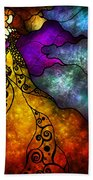 Beauty And The Beast Beach Towel by Mandie Manzano