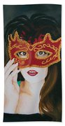 Beauty And The Mask Beach Towel
