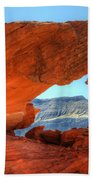 Beauty Of Sandstone Little Finland Beach Towel by Bob Christopher