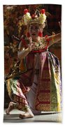 Beauty Of The Barong Dance 3 Beach Towel