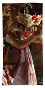 Beauty Of The Barong Dance 4 Beach Towel
