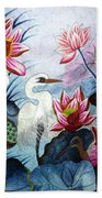 Beauty Of The Lake Hand Embroidery Beach Towel