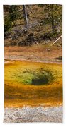 Beauty Pool In Upper Geyser Basin In Yellowstone National Park Beach Towel