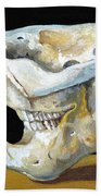 Beaver Skull 1 Beach Towel