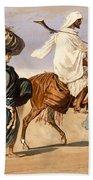 Bedouin Family Travels Across The Desert Beach Towel
