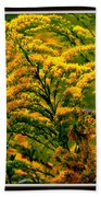 Bee And Goldenrod Beach Towel