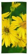 Bee Flower Beach Towel