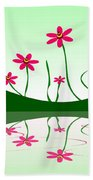 Bee Flowers Beach Towel