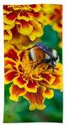 Bee My Friend Miss Marigold Beach Towel