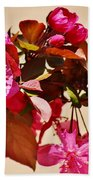 Bee On Pink Blossoms 031015ac Beach Towel
