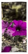 Bee To A Flower Beach Towel