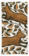 Beechnut Squirrels Beach Towel