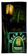 Beer Fest And Lamp Beach Towel