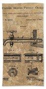 Beer Tap Patent Beach Towel