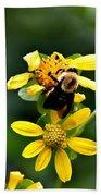 Bees At Work Beach Towel