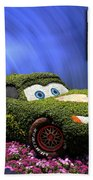 Before And After Sample Art 29 Floral Lightning Mcqueen Beach Towel by Thomas Woolworth