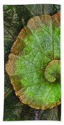 Begonia Leaf Beach Towel