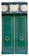 Behind The Green Doors - Sao Paulo Beach Towel
