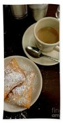 New Orleans Beignets And Coffee Au Lait  Beach Towel