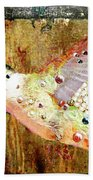 Bejeweled Hummingbird Beach Towel