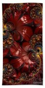 Bejewelled Crimson Beach Towel