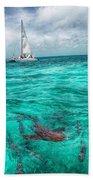Belize Turquoise Shark N Sail  Beach Towel