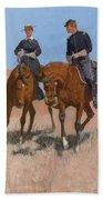 Belle Mckeever And Lt Edgar Wheelock Beach Towel by Frederic Remington